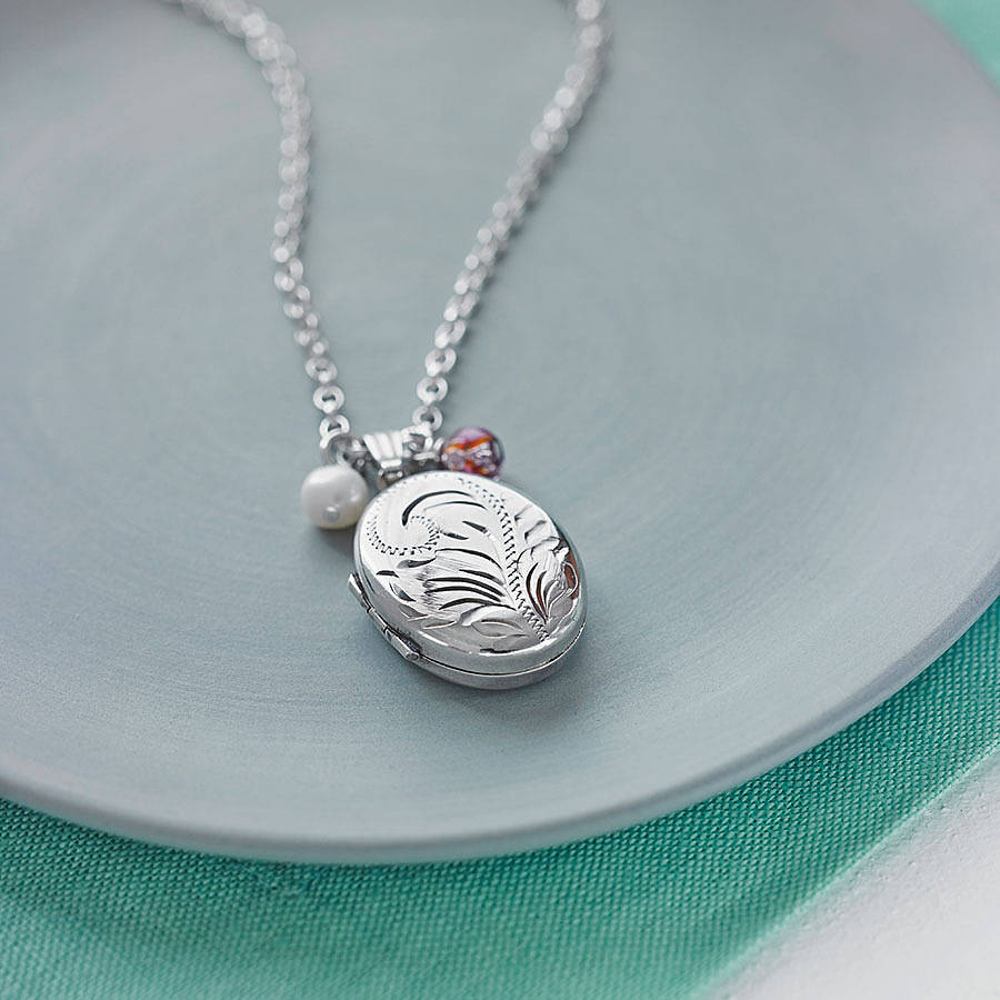 hurleyburley heart lockets locket shop personalised silver sterling necklace