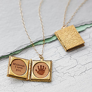 Handprint Storybook Locket Necklace