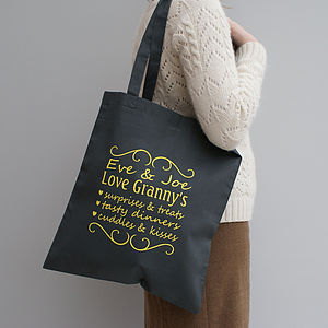 Personalised 'You're The Best' Tote Bag - gifts for grandparents