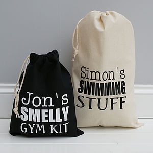 Personalised Sports Or Gym Bag - gifts for teenagers