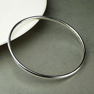 Personalised Women's Silver Bangle - jewellery