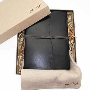 Antara Soft Black Leather Journal