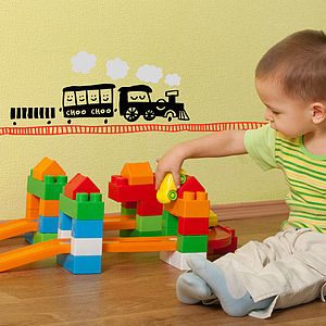Choo Choo Train Vinyl Wall Sticker
