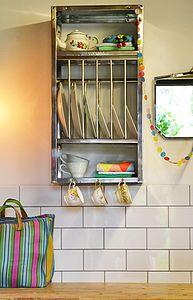 Mini Stainless Steel Plate Rack - furniture