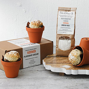 Artisan Seeded Flowerpot Bread Making Kit - baking