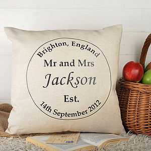 Anniversary Present Circle Cushion - personalised cushions