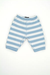 Sky Blue And White Striped Trousers