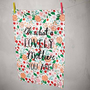 Mothers Day Floral Tea Towel - best gifts for mothers