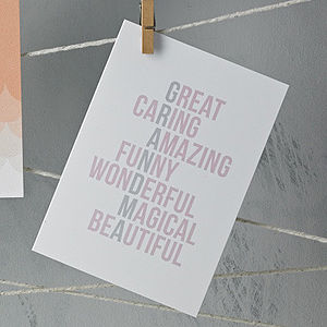 Acrostic Grandma Mother's Day Card - mother's day cards