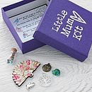 'Little Mum Kit' - showing open box detail of the charms