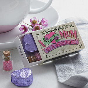 Tea For Mum In A Matchbox - shop by colour: pink