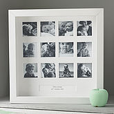 Personalised My First Year Square Frame - prints & art