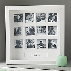 Personalised My First Year Square Frame - gifts under £50