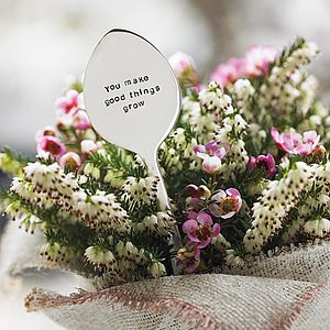 Personalised Plant Marker And Seeds - gifts for gardeners