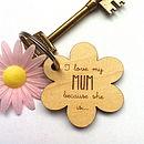 I Love My Mum Because… Key Ring