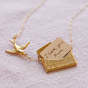 Handwritten Mini Love Letter Necklace - necklaces & pendants