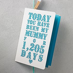 Personalised Days You've Been My Mum Card - personalised cards