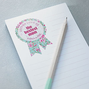 Personalised 'Bestest Mum' Mother's Day Notepad