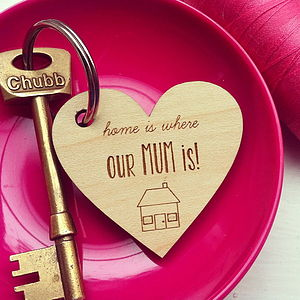 Home Is Where My Mum Is Key Ring - gifts for the home