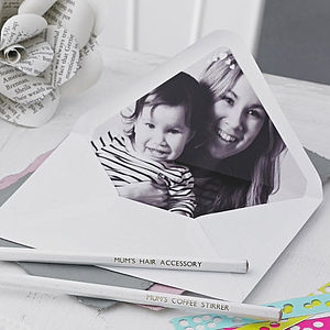 Pack Of 10 Personalised Photo Lined Envelopes - best gifts for mothers