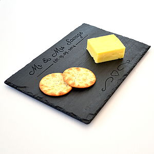 Personalised Engraved Wedding Cheese Board