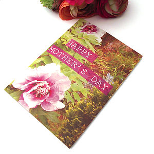 Peony Mother's Day Card
