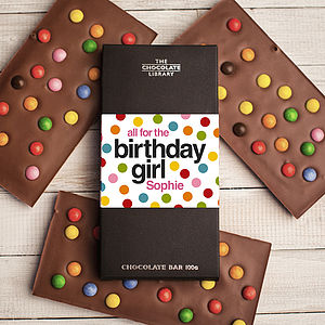Happy Birthday Personalised Chocolate Bar - birthday gifts