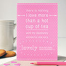 Personalised 'Lovely Mum' Mother's Day Card
