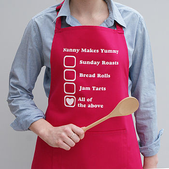 Personalised Her Favourite Things Apron