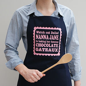 Personalised Watch Out… Apron