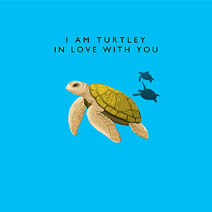 'I Am Turtley In Love With You' Card - shop by category