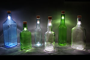 Rechargeable Cork Bottle Stopper Light - outdoor lights