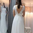 Lace Bodice Chiffon A Line Wedding Dress