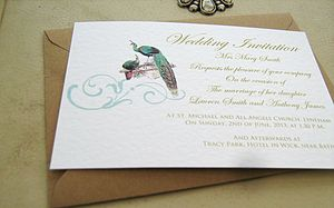 Wedding Invitations Peacock