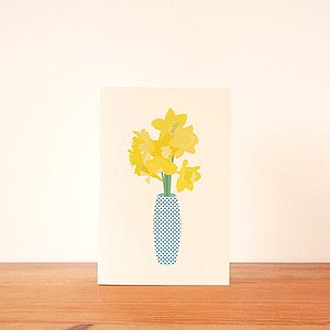 Daffodils Mother's Day Greetings Card - cards & invitations