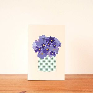 Violets Floral Notecard