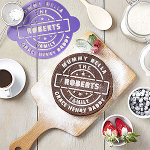 Personalised Family Cake Stencil - kitchen accessories