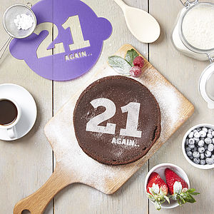 Birthday Age Cake Stencil - home
