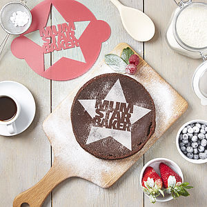 Mothers Day Star Baker Cake Stencil - gifts under £25