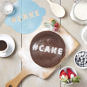 Personalised Hashtag Cake Stencil - cake decoration
