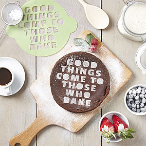 'Those Who Bake' Cake Stencil - food & drink gifts