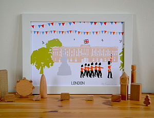 London Buckingham Palace Print A4 - shop by price