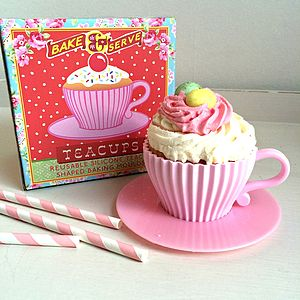 'Cupcake In A Teacup' Retro Baking Moulds Sale