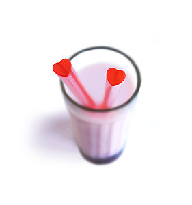 Pack Of 20 Heart Shaped Straws