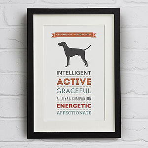German Shorthaired Pointer Breed Traits Print - prints & art sale