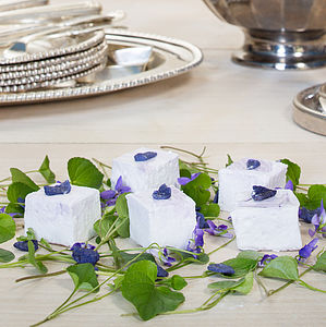 Creme De Violette Marshmallows - summer food & drink