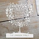 Personalised Heart Tree Papercut