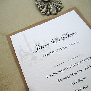 Wedding Invitations Classic - wedding stationery