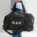Personalised Men's Canvas Weekend Bag