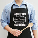 Personalised Men's Head Chef Apron